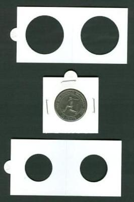 50 LIGHTHOUSE 25mm STAPLE TYPE 2x2 COIN HOLDERS - Suit Shilling & 10 Cent