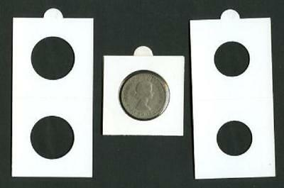 25 LIGHTHOUSE 25mm SELF ADHESIVE 2x2 COIN HOLDERS - Suit Shilling & 10 Cent