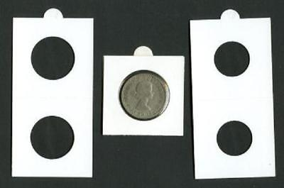 25 LIGHTHOUSE 35mm SELF ADHESIVE 2x2 COIN HOLDERS - Suit 50 Cent Coins