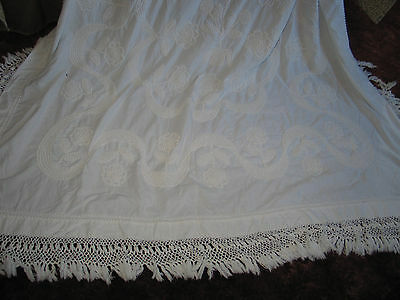 UNIQUE ANTIQUE VTG HAND MADE TUFTED CANDLE WICK Hob Nail CHENILLE BEDSPREAD