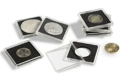Pack of 10 LIGHTHOUSE QUADRUM 2x2 COIN HOLDERS - CAPSULES - Size 24mm