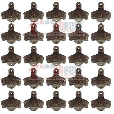 Lot of 25 Rustic Cast Iron OPEN HERE Wall Mounted Beer Bottle Opener Soda