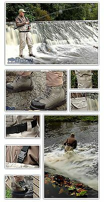 Bison Breathable Chest Waders  Boots & Studs All Sizes