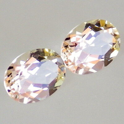 GOLDEN BERYL-BRAZIL TW 2.27Ct FLAWLESS-MATCHING PAIR FOR PERFECT JEWELRY-RARE