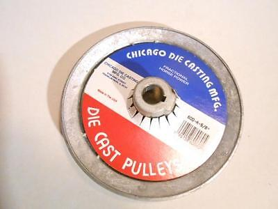"""100's V Belt Pulley Chicago 600-A Die cast 6"""" od Bore Sizes 1/2, 5/8, 3/4,1"""" NEW"""