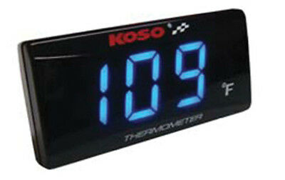 Koso Super Slim Temperature Gauge 32-248 F Black 275747 KOSO SUPER SLIM TEMP GAU