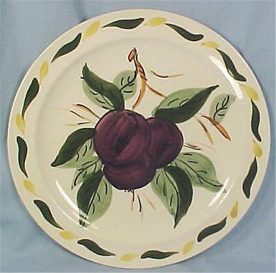 Blue Ridge Purple Plum Salad Plate Fruit Cocktail Vintage Pottery
