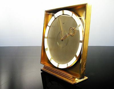 Very Big Beautiful Art Deco Design Desk Clock From Junghans Meister Germany