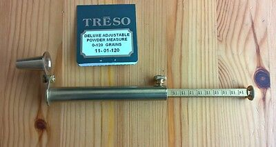 Treso Brass adjustable Powder Measure 0 to 120 grains With SPOUT MADE IN USA