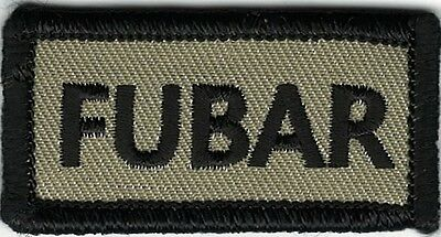 Tan Black Military FUBAR F@&ked Up Beyond All Recognition Morale Patch