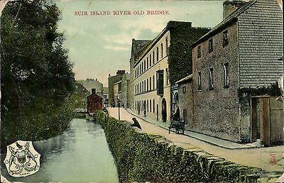 Clonmel, Co. Waterford posted Suir Island River Old Bridge  # 2980A by Milton.