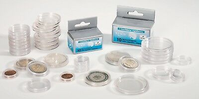 10 LIGHTHOUSE 32.5mm ROUND COIN CAPSULES suit Multi Facet 50c coins