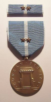 U.S. Korean Service Military Medal with RIBBON 2 Battle Stars