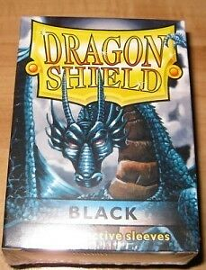 100 Dragon Shield Black Sleeves / Hüllen ! ( Schwarz )