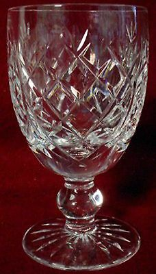 WATERFORD crystal DONEGAL pattern White WINE GOBLET or GLASS 4-1/2""