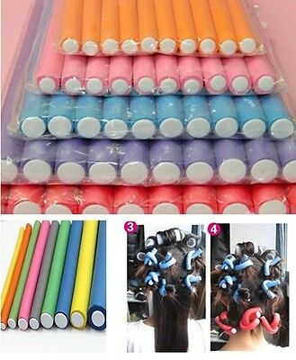 Hot Rollers Curler Makers Soft Foam Bendy Curls Tool  DIY Styling Hair 10Pcs EY0
