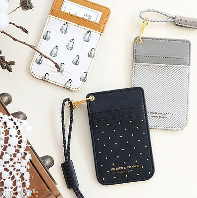 Iconic Swing Neck Card Pocket Holder Strap Case Money Coin Wallet Purse Key Ring