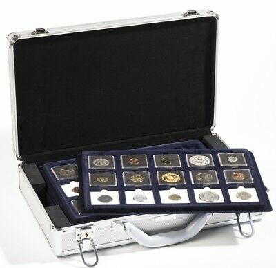 Lighthouse Cargo L6 Aluminum Coin Case & 6 trays for Coin Holders or Quadrums