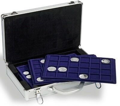 New Lighthouse Cargo L6 Aluminum Coin Case with 6 Trays will hold 198 Coins