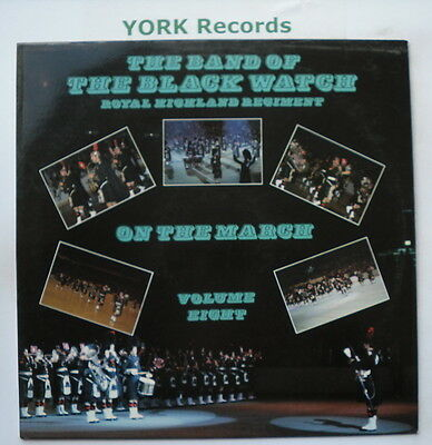 BAND OF THE BLACK WATCH - On The March Volume 8 - Excellent Con LP Record DR 52