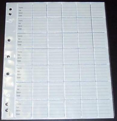 Pack of ten New 42 Pocket VST Coin Album Pages - code RCP42