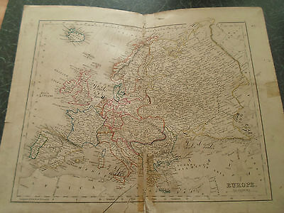 Antique Map ~ EUROPE ~ From The College Atlas For Schools+Families 1860