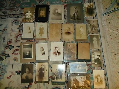 Antique Cabinet Card Photographs & Postcards Mix Lot Of 24 Rare Collection !