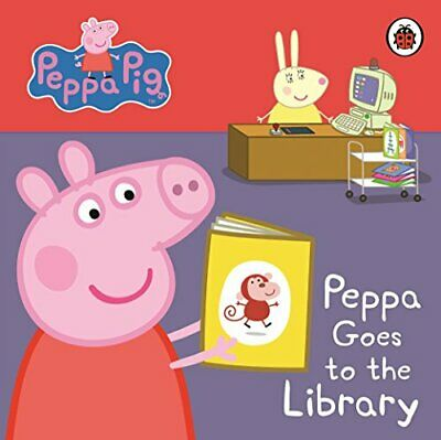 Peppa Pig: Peppa Goes to the Library: My First Storybook by Ladybird Board book