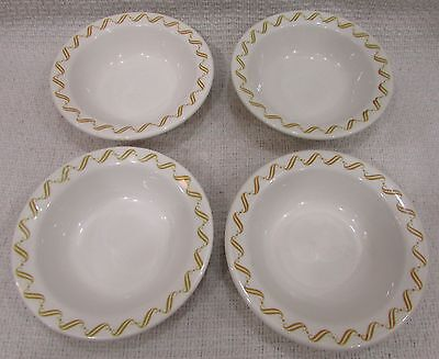 Old set 4 Buffalo China vintage restaurant ware salad cereal chili bowls FREE SH