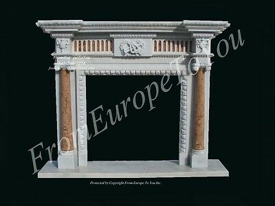Beautiful Hand Carved Marble Fireplace Mantel Lm005