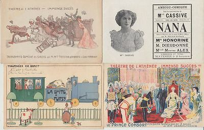 THEATER THEATRE Poster Style ADVERTISING 24  Vintage Postcards pre-1940