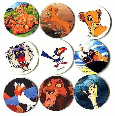 POGS - H-ROILION 9 001 Lot de 9 Pogs ROI LION (LION KING)