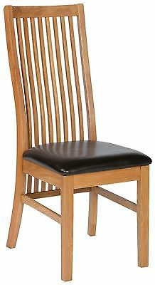 Chantilly solid oak furniture set of four dining chairs