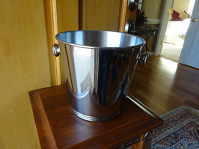 Inox Stainless Steel Ice Bucket 18/10 Champagne Wine Bottle Holder Made in Italy