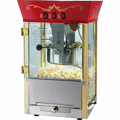 8 oz Commercial Quality Popcorn Popper Maker ~ Countertop Home Theater Machine