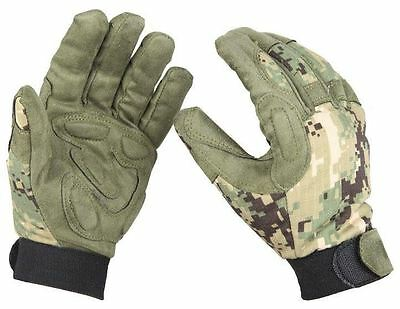 Airsoft Padded Vented Cordura Camo Gloves Aor2 Jungle Digi Green Large