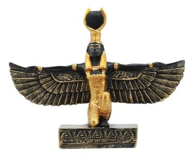Egyptian Goddess Of Motherhood Isis With Open Wings Dollhouse Miniature Statue