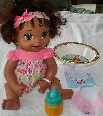 Baby Alive Interactive Doll Bilingual Opens Closes Eyes Mouth Moves