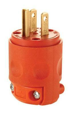 Leviton 012-515PV-0OR 3 Wire Plug, Orange