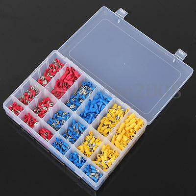 900Pcs Set Male/Female Spade Wire Crimp Insulated Terminals Connector 10-22AWG