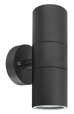 Black Stainless Steel Double Wall Light IP65 Up Down Outdoor Wall Light ZLC035