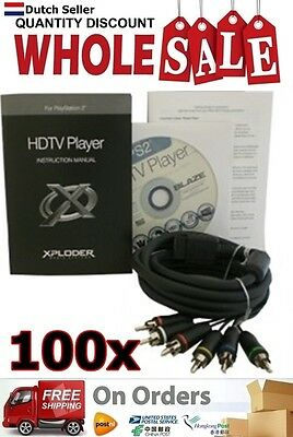 100x Wholesale Lot Xploder HDTV Player for Playstation 2 YGP213 AU
