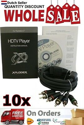10x Wholesale Lot Xploder HDTV Player for Playstation 2 YGP213 AU