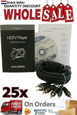 25x Wholesale Lot Xploder HDTV Player for Playstation 2 YGP213 AU