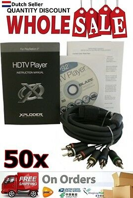 50x Wholesale Lot Xploder HDTV Player for Playstation 2 YGP213 AU