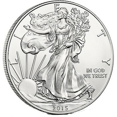 2015 - 1 oz American Silver Eagle Coin - One Troy oz .999 $1