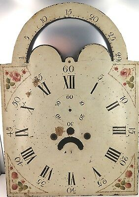 .rare Late 1700'S / Early 1800'S Rolling Moon Grandfather / Longcase Enamel Dial