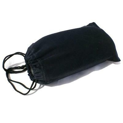 BLACK CLOTH SUNGLASSES CASE Protective Soft Drawstring Glasses Pouch NEW