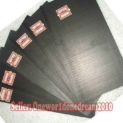 5 Pieces 99.99% Pure Graphite Electrode Rectangle Plate Sheet 90mm x 20mm x 3mm