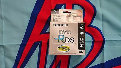 5 Fuji 80Mm (Mini) Dvd-R Dual Sided Ds 2.8Gb 60 Min W/cases - 25302910